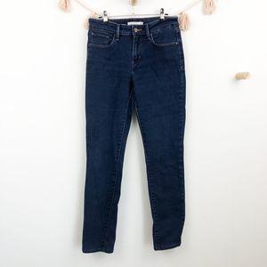 Levi's Dark Wash Mid Rise Skinny Jean Sz 6